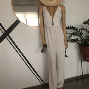Pants - WHITE STRAPPY JUMPSUIT